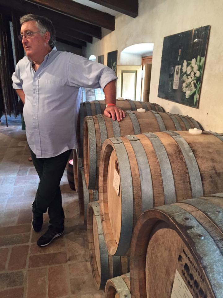 Gino, the enthusiastic sage of Castello di Verrazzano.